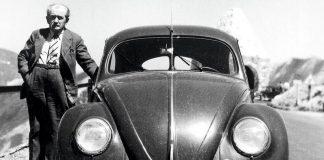 Dr Ing Ferdinand Porsche-mit VW am Fuscher Törl