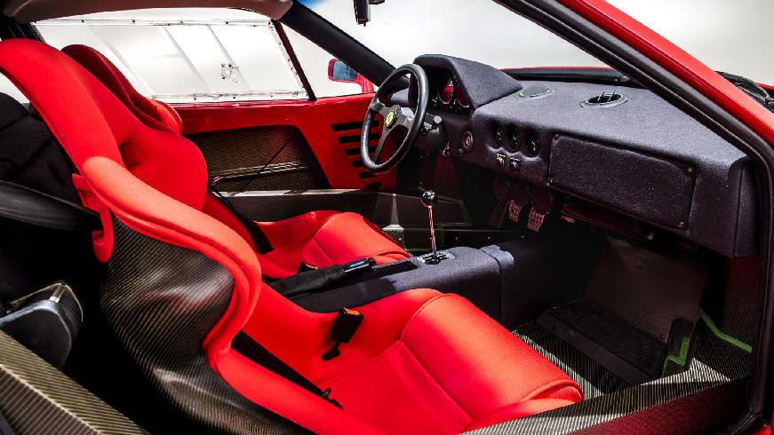1989 ferrari f40-interior
