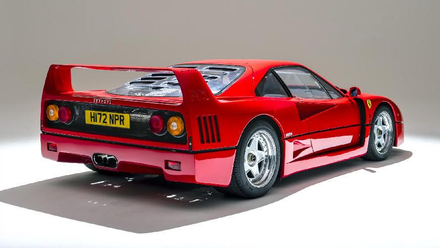 1989 ferrari f40-rear