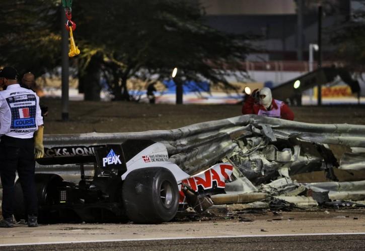 Σοκαριστική προσομοιώση του ατυχήματος του Grosjean